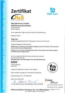 AZAV Zertifizierung